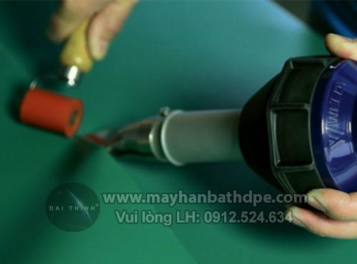 Máy hàn bạt quảng cáo hàn bạt hiflex, banner quảng cáo Weldy HT1600