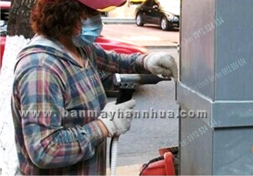 máy hàn nhựa cầm tay dshac hàn ống nhựa pvc