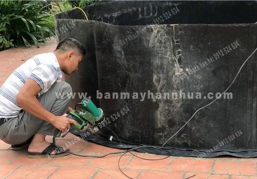 Máy hàn bạt nhựa HDPE máy hàn nhựa đùn LST600B