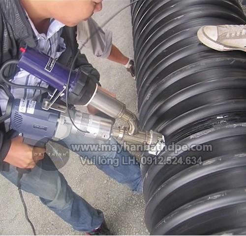 Máy hàn đùn Weldy Booster EX2 thi công hàn ống nhựa HDPE