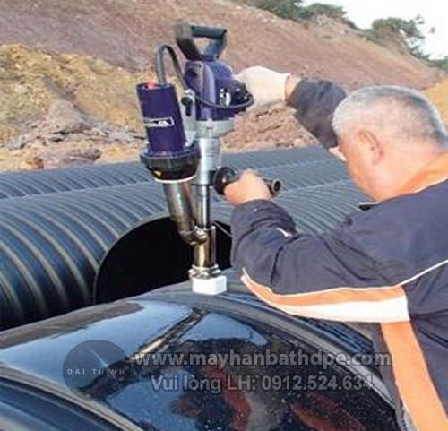 Máy hàn đùn Weldy Booster EX3 hàn ống nhựa, bồn bể nhựa