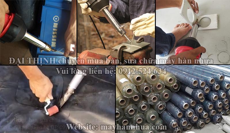 Máy hàn nhựa cầm tay DY1080W hàn ống nhựa tấm nhựa, hàn bạt nhựa