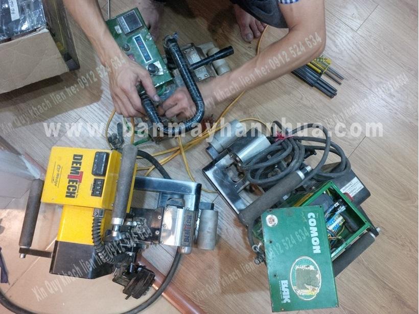 Sửa chữa máy hàn màng nhựa chống thấm Demtech Mỹ