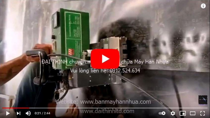 Video thi công thực tế - máy hàn nhựa LST900 hàn bạt nhựa HDPE 2mm